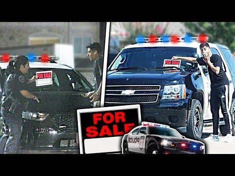 Putting FOR SALE Signs on COP Cars Prank!