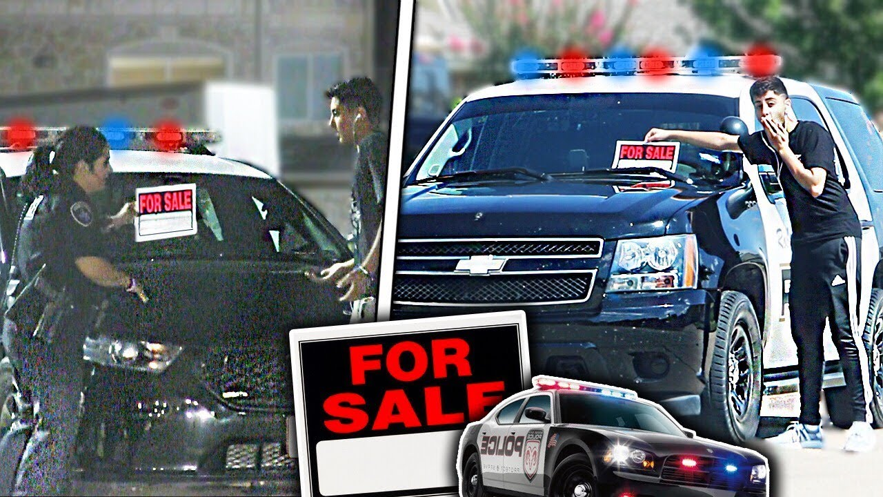 Police Cars For Sale >> Putting For Sale Signs On Cop Cars Prank Youtube