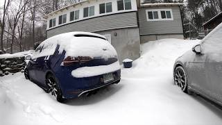 12th of December, 2017 - SNOW DAY! w/ the Golf R + Sportwagen