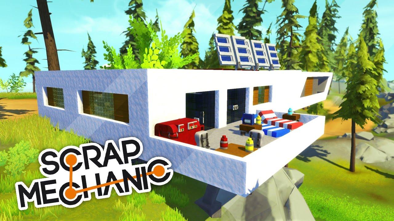 super maison moderne scrap mechanic youtube. Black Bedroom Furniture Sets. Home Design Ideas