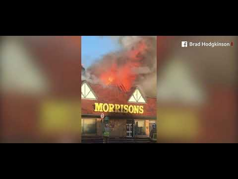 Folkestone Morrisons Superstore In Flames
