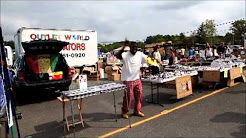 English Town NJ, Flea Market.........This is a happy Man.