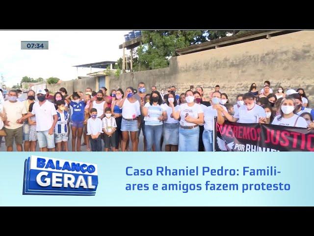 Caso Rhaniel Pedro: Familiares e amigos fazem protesto pedindo justiça