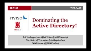 SANS Webcast: Dominating The Active Directory