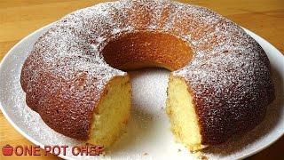 Vanilla Sour Cream Cake | One Pot Chef