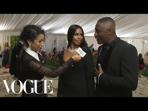 Idris Elba on His Self-Designed Suit | Met Gala 2018 With Liza Koshy | Vogue
