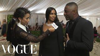 Idris Elba on His Self-Designed Suit   Met Gala 2018 With Liza Koshy   Vogue