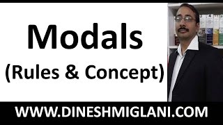 modals english grammar best concept and rules by team dinesh miglani tutorials