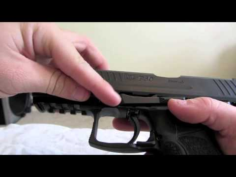 HOW TO FIELD STRIP HECKLER & KOCH P30 while puppy attacks you!!!