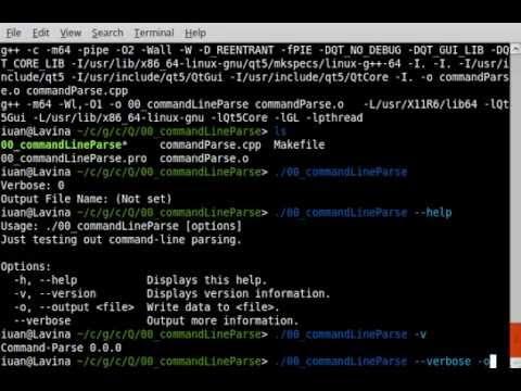 C++ Qt Example 00 Command Line Parse