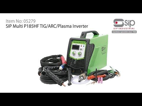 SIP Industrial Products   Multi P185HF TIG/ARC/Plasma Inverter