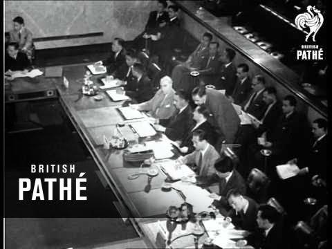 World Without War Geneva Conference 1954 Youtube