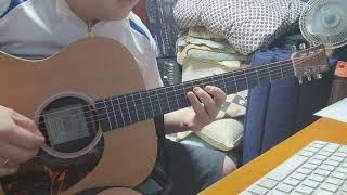 Em jam with acoustic guitar, f…