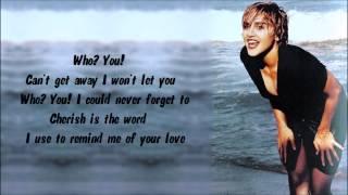 Madonna - Cherish Karaoke / Instrumental with lyrics on screen Mp3