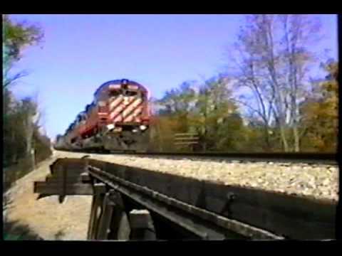 CP RAIL trains in Michigan on CSX. SD40-2's, ALCOS...