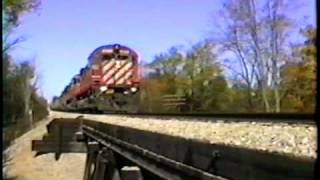 Cp Rail Trains In Michigan On Csx.  Sd40-2's, Alcos!  Early 90's Part One