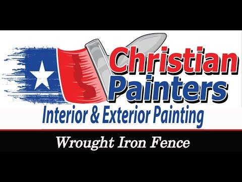 Christian Painters Wrought Iron Fence Preparation Paint Mansfield