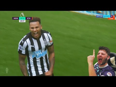 NEWCASTLE ARE 4TH BABY!!! Newcastle United 2 - 1 Stoke City - Goals, Highlights and Reaction