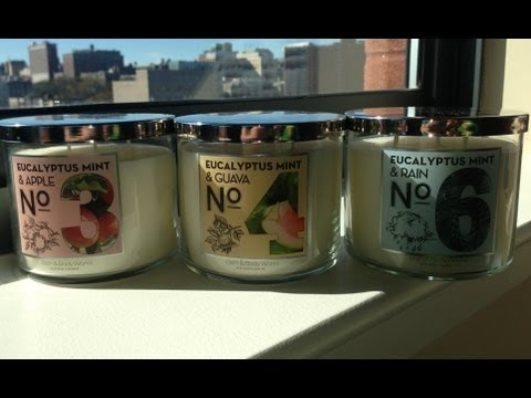 """Bath and Body Works New """"Eucalyptus Mint &..."""" Test Collection Candle Review"""