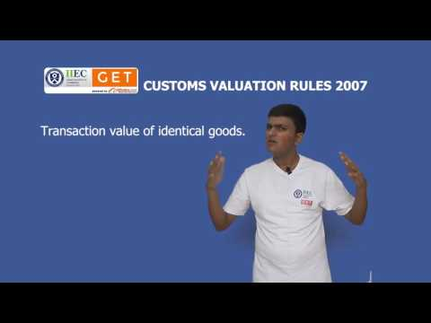 Customs Valuation Rules