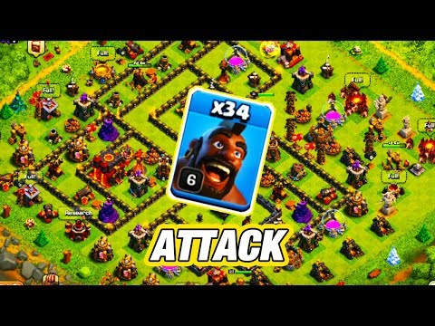 LEVEL 6 HOG RIDER ATTACK STRATEGY IN TOWN HALL 10 | Clash Of Clans Hog Rider Attack