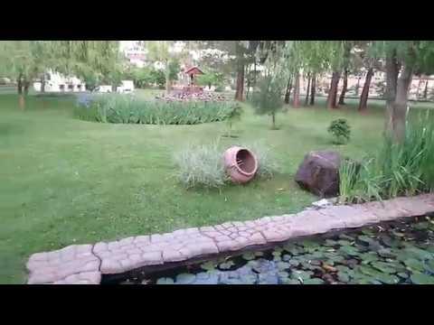 Отдых в санатории Молния Ямал и декоративный пруд