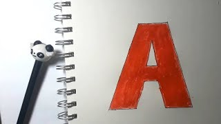 Learn alphabetically and draw the letter A