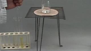 【ASNR プリント黒板実験映像150】 金箔からテトラクロロ金(Ⅲ)酸水溶液、そして金コロイド溶液へ