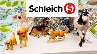 распаковка фигурок  шляйх  обзор  собак schleich хаски немецкая овчарка золотистый ретривер