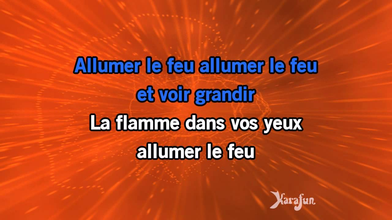 karaok allumer le feu stade de france 2009 johnny hallyday youtube. Black Bedroom Furniture Sets. Home Design Ideas