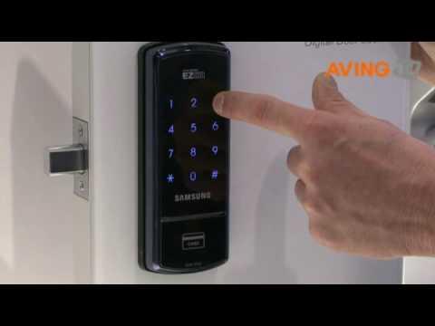 how to use keyfree touch door lock unlock doovi. Black Bedroom Furniture Sets. Home Design Ideas