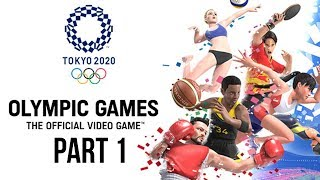 TOKYO 2020 Olympics Video Game Gameplay Part 1 - 100M SPRINT / HAMMER THROW / LONG JUMP