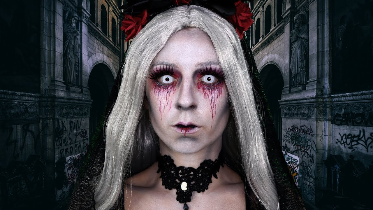 0a808a34bd MARIÉE MORTE 🌹💀 / MAQUILLAGE HALLOWEEN FACILE - YouTube