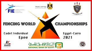 Fencing World Championships Egypt Cairo 2021 - Individual Cadet Epee Piste Red