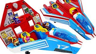 Paw Patrol Super Paws 2-in-1 Transforming Mighty Pups Jet Command Center! Go! | DuDuPopTOY
