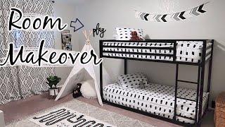 BEDROOM MAKEOVER! BEFORE + AFTER | KIDS ROOM TRANSFORMATION