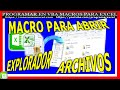 75 🔴 Macro ABRE EXPLORADOR 🔥 ARCHIVOS Windows y Filtra