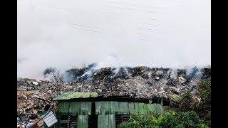 24 jam padam kebakaran tempat buang sampah haram