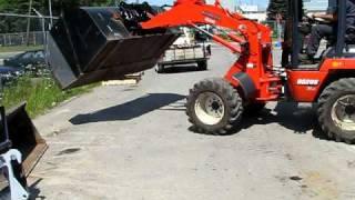 quick attache braz godet gratte a neige bucket pouce excavation deneigement tracteur