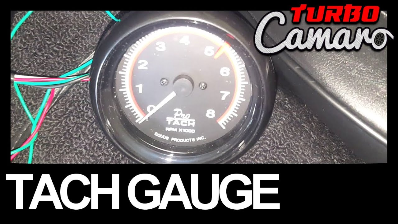 1967 Camaro How To Install A Tachometer On The Column Shifter 1968 Tach Wiring