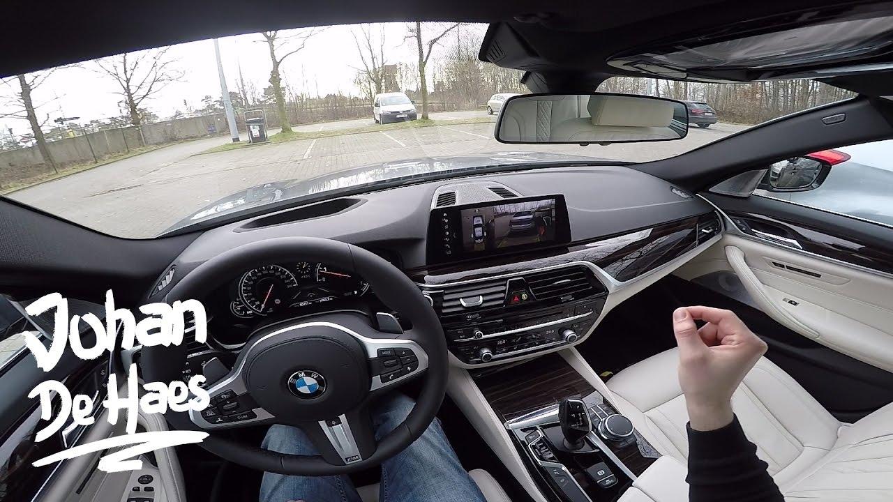 2017 BMW 5 Series 540i 340 hp POV Test Drive - YouTube