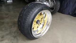 195 45 stretched tires 15x10