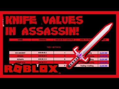 Roblox Assassin Value List March 2019 New Link Youtube