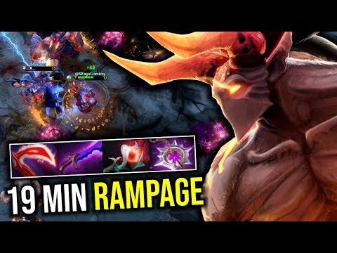 19 MIN RAMPAGE..!! Hard Carry Warlock Mid by Waga 7.21c | Dota 2