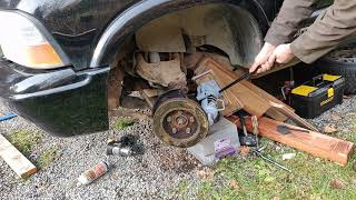 Stuck wheel hub removal