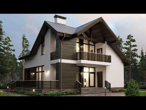 Дом из арболита 11 х 11 с мансардой - 150 кв м | Ремстройсервис М 192