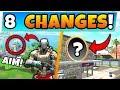Fortnite Update: AIM SKIN SECRET + *NEW* MAP CHANGES! - 8 Secret Changes in Battle Royale!