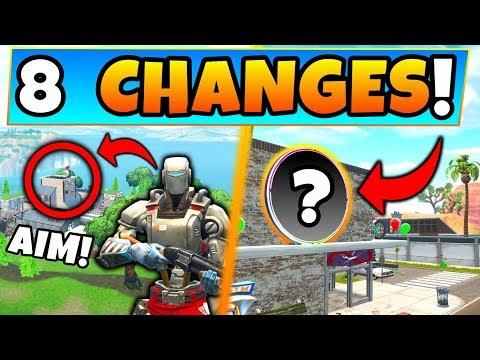 Fortnite Update: AIM SKIN SECRET + *NEW* MAP CHANGES! - 8 Secret Changes in Battle Royale! thumbnail