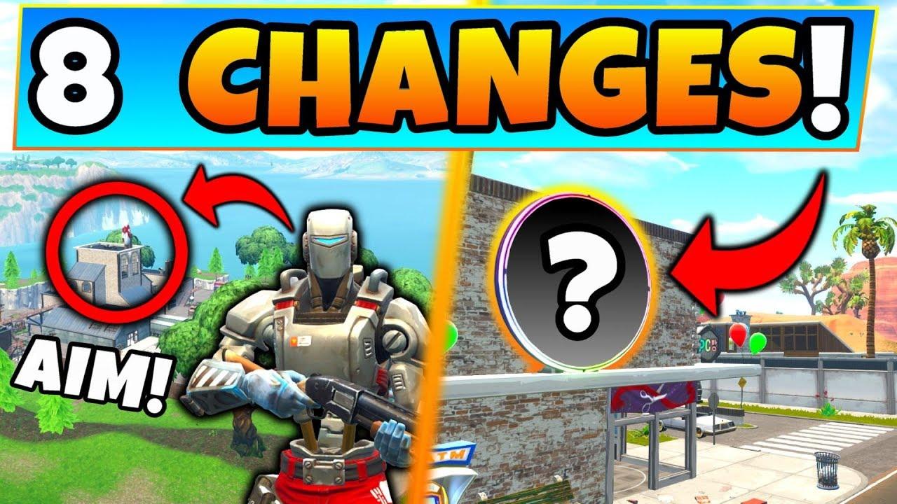 Fortnite Update Aim Skin Secret New Map Changes 8 Secret
