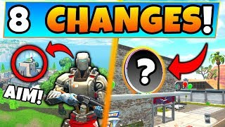Fortnite Update: AIM SKIN SECRET + *NEW* MAP CHANGES! - 8 Secret Changes in Battle Royale!
